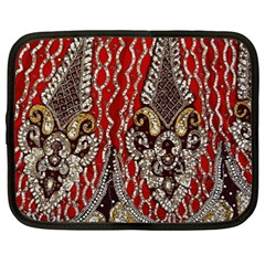 Indian Traditional Art Pattern Netbook Case (large)