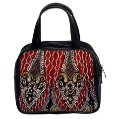 Indian Traditional Art Pattern Classic Handbags (2 Sides)