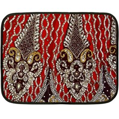 Indian Traditional Art Pattern Fleece Blanket (mini)