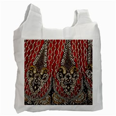 Indian Traditional Art Pattern Recycle Bag (one Side)