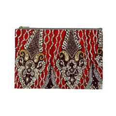Indian Traditional Art Pattern Cosmetic Bag (large)