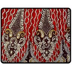 Indian Traditional Art Pattern Fleece Blanket (medium)