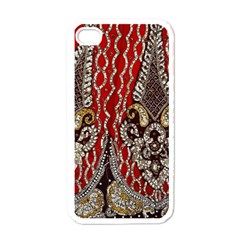 Indian Traditional Art Pattern Apple iPhone 4 Case (White)