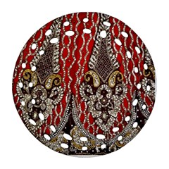 Indian Traditional Art Pattern Round Filigree Ornament (two Sides)