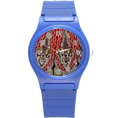 Indian Traditional Art Pattern Round Plastic Sport Watch (s)