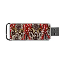 Indian Traditional Art Pattern Portable Usb Flash (one Side)