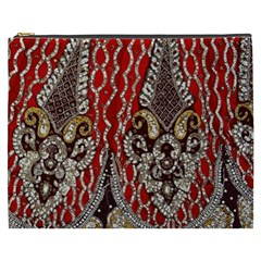 Indian Traditional Art Pattern Cosmetic Bag (xxxl)