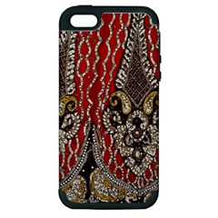 Indian Traditional Art Pattern Apple Iphone 5 Hardshell Case (pc+silicone)