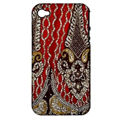 Indian Traditional Art Pattern Apple Iphone 4/4s Hardshell Case (pc+silicone)