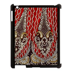Indian Traditional Art Pattern Apple iPad 3/4 Case (Black)