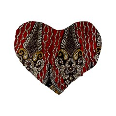Indian Traditional Art Pattern Standard 16  Premium Heart Shape Cushions