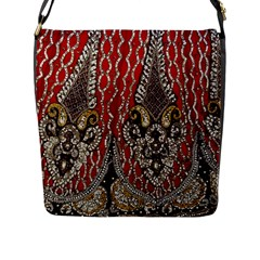 Indian Traditional Art Pattern Flap Messenger Bag (l)