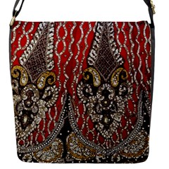 Indian Traditional Art Pattern Flap Messenger Bag (S)
