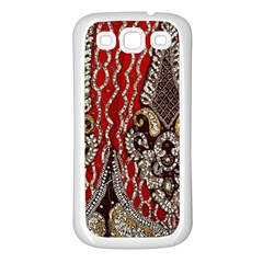 Indian Traditional Art Pattern Samsung Galaxy S3 Back Case (white)