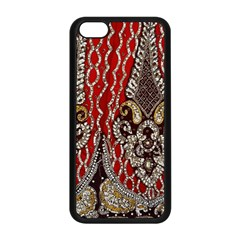 Indian Traditional Art Pattern Apple Iphone 5c Seamless Case (black)