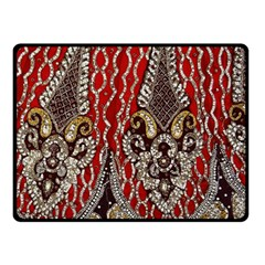 Indian Traditional Art Pattern Double Sided Fleece Blanket (small)