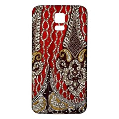 Indian Traditional Art Pattern Samsung Galaxy S5 Back Case (White)