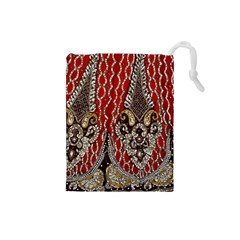 Indian Traditional Art Pattern Drawstring Pouches (Small)