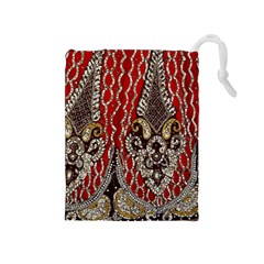 Indian Traditional Art Pattern Drawstring Pouches (medium)