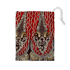 Indian Traditional Art Pattern Drawstring Pouches (large)