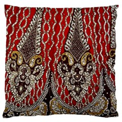 Indian Traditional Art Pattern Large Flano Cushion Case (one Side)