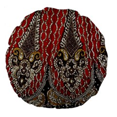 Indian Traditional Art Pattern Large 18  Premium Flano Round Cushions