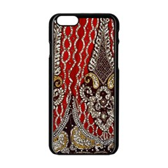 Indian Traditional Art Pattern Apple Iphone 6/6s Black Enamel Case