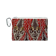 Indian Traditional Art Pattern Canvas Cosmetic Bag (S)