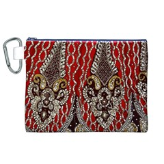 Indian Traditional Art Pattern Canvas Cosmetic Bag (xl)