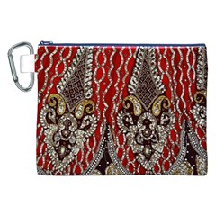 Indian Traditional Art Pattern Canvas Cosmetic Bag (xxl)