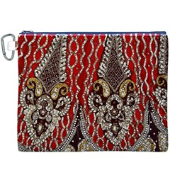 Indian Traditional Art Pattern Canvas Cosmetic Bag (xxxl)