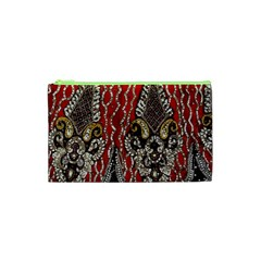 Indian Traditional Art Pattern Cosmetic Bag (xs)