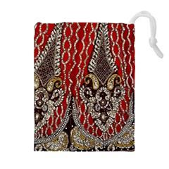 Indian Traditional Art Pattern Drawstring Pouches (extra Large)