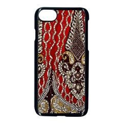 Indian Traditional Art Pattern Apple Iphone 7 Seamless Case (black)