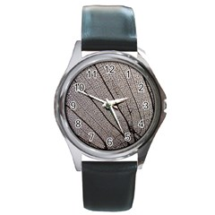 Sea Fan Coral Intricate Patterns Round Metal Watch