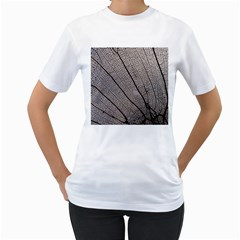 Sea Fan Coral Intricate Patterns Women s T Shirt (white) (two Sided)