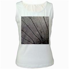 Sea Fan Coral Intricate Patterns Women s White Tank Top