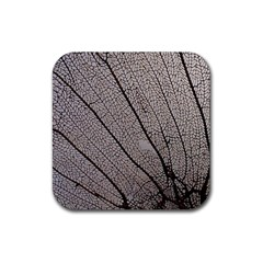 Sea Fan Coral Intricate Patterns Rubber Square Coaster (4 Pack)