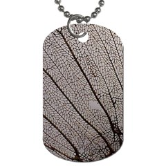 Sea Fan Coral Intricate Patterns Dog Tag (Two Sides)
