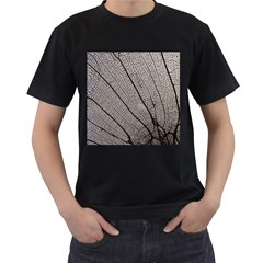 Sea Fan Coral Intricate Patterns Men s T Shirt (black) (two Sided)