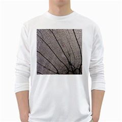 Sea Fan Coral Intricate Patterns White Long Sleeve T-Shirts