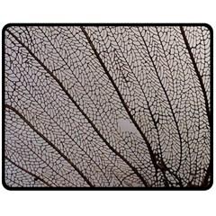 Sea Fan Coral Intricate Patterns Double Sided Fleece Blanket (medium)