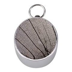 Sea Fan Coral Intricate Patterns Mini Silver Compasses