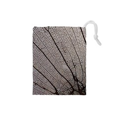 Sea Fan Coral Intricate Patterns Drawstring Pouches (small)