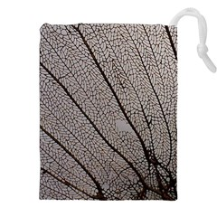 Sea Fan Coral Intricate Patterns Drawstring Pouches (xxl)