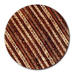 Udan Liris Batik Pattern Round Mousepads