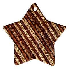 Udan Liris Batik Pattern Star Ornament (two Sides)