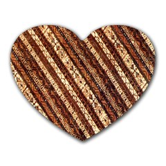 Udan Liris Batik Pattern Heart Mousepads