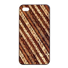 Udan Liris Batik Pattern Apple Iphone 4/4s Seamless Case (black)