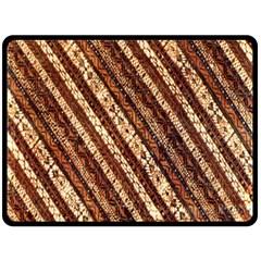 Udan Liris Batik Pattern Double Sided Fleece Blanket (Large)
